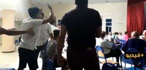 شاهدوا.. فوضى وصراعات في الجمع العام لفريق الفتح الرياضي الناظوري لكرة القدم