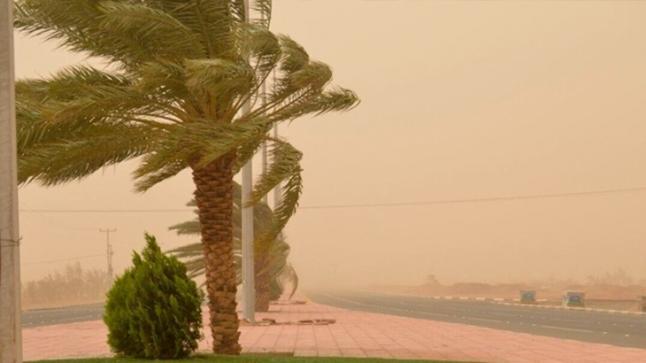 نشرة جوية خاصة تحذر من رياح قوية مصحوبة بالغبار في عدد من مناطق المملكة