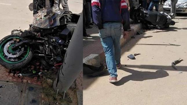 اصابة شخصين في حادثة سير خطيرة بجماعة تيزطوطين