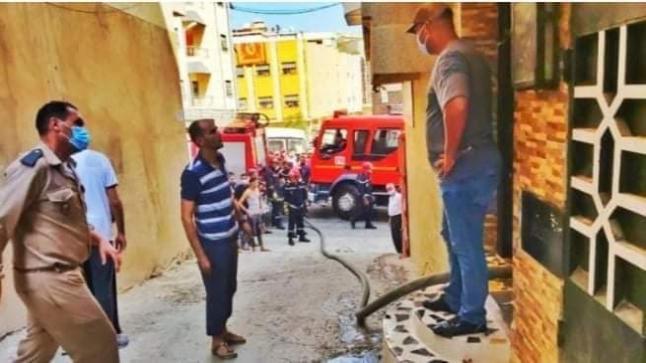 شاحن يتسبب في حريق بمنزل وسط طنجة و يودي بحياة طفل صغير و خسائر مادية