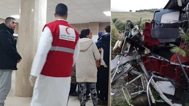 ثلاثة اشخاص من الناظور ضمن قتلى حادثة انقلاب حافلة بواد امليل
