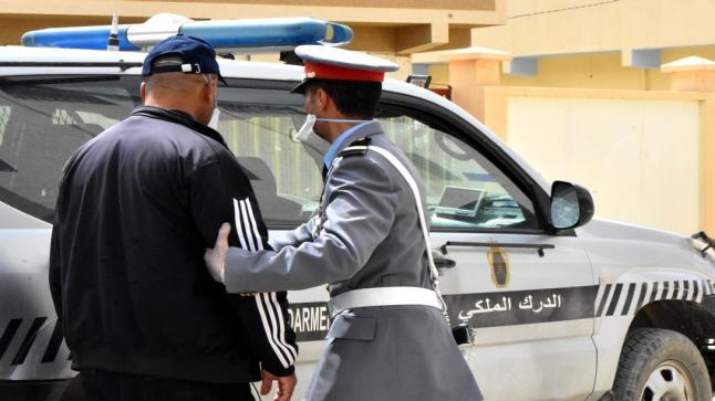 عناصر الدرك الملكي بالدريوش تعتقل عشرات المخالفين لحالة الطوارئ الصحية