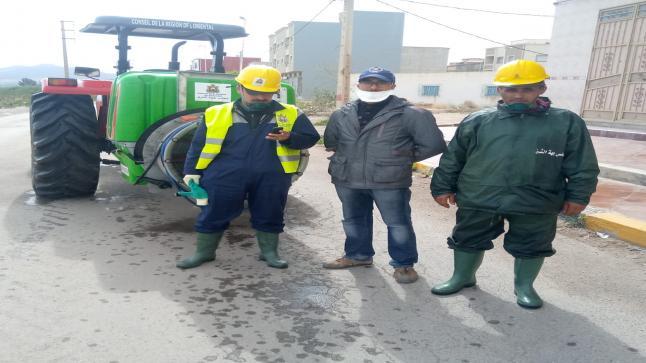 عمليات تعقيم وحملات تحسيسية واسعة لأحياء تاويمة البستان وعاريض 2و 3 و لحرش من طرف السلطات
