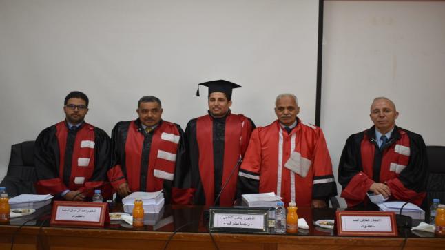 """وجدة.. الطالب الباحث """"فهد حيلوة"""" ينال شهادة الدكتوراه فيالقانون الخاص بميزة مشرف جدا"""