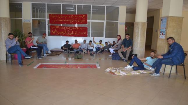 معطلي سلوان يخوضون اعتصام بمقر البلدية ويتوعدون بالتصعيد
