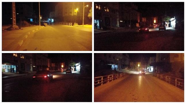 غرق الشارع الرئيسي الرابط بين بن الطيب وأمهاجر في ظلام دامس لخمس أيام بحاله يثير تذمر الساكنة