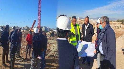 رئيس جامعة محمد الأول في زيارة تفقدية لأشغال مشروع توسعة كلية الناظور.
