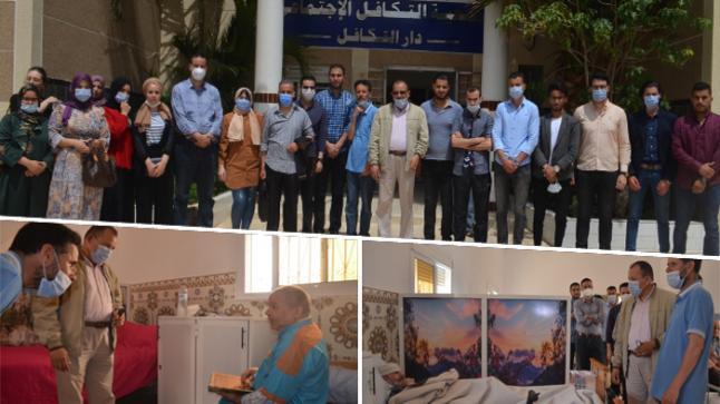"""بالفيديو.. الدكتور """"أحمد خرطة"""" رفقة طلبة جامعيين في زيارة تفقدية لمركز دار التكافل الإجتماعي بالناظور"""