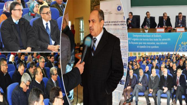 بالصور.. قافلة المركز الوطني للبحث العلمي والتقني تحل بجامعة محمد الأول بوجدة للتعريف بخدمات المركز