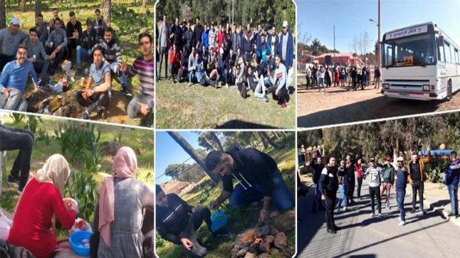 بالصور.. جمعية الطلبة الجامعيين بني سعيد تنظم رحلة إستكشافية ترفيهية الى تافوغالت