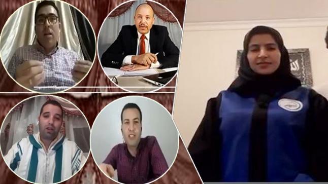 """مناقشة رسالة الماستر عن بعد الأولى من نوعها على صعيد جامعة محمد الأول بكلية الناظور للطالبة """"إيمان الشريف"""""""